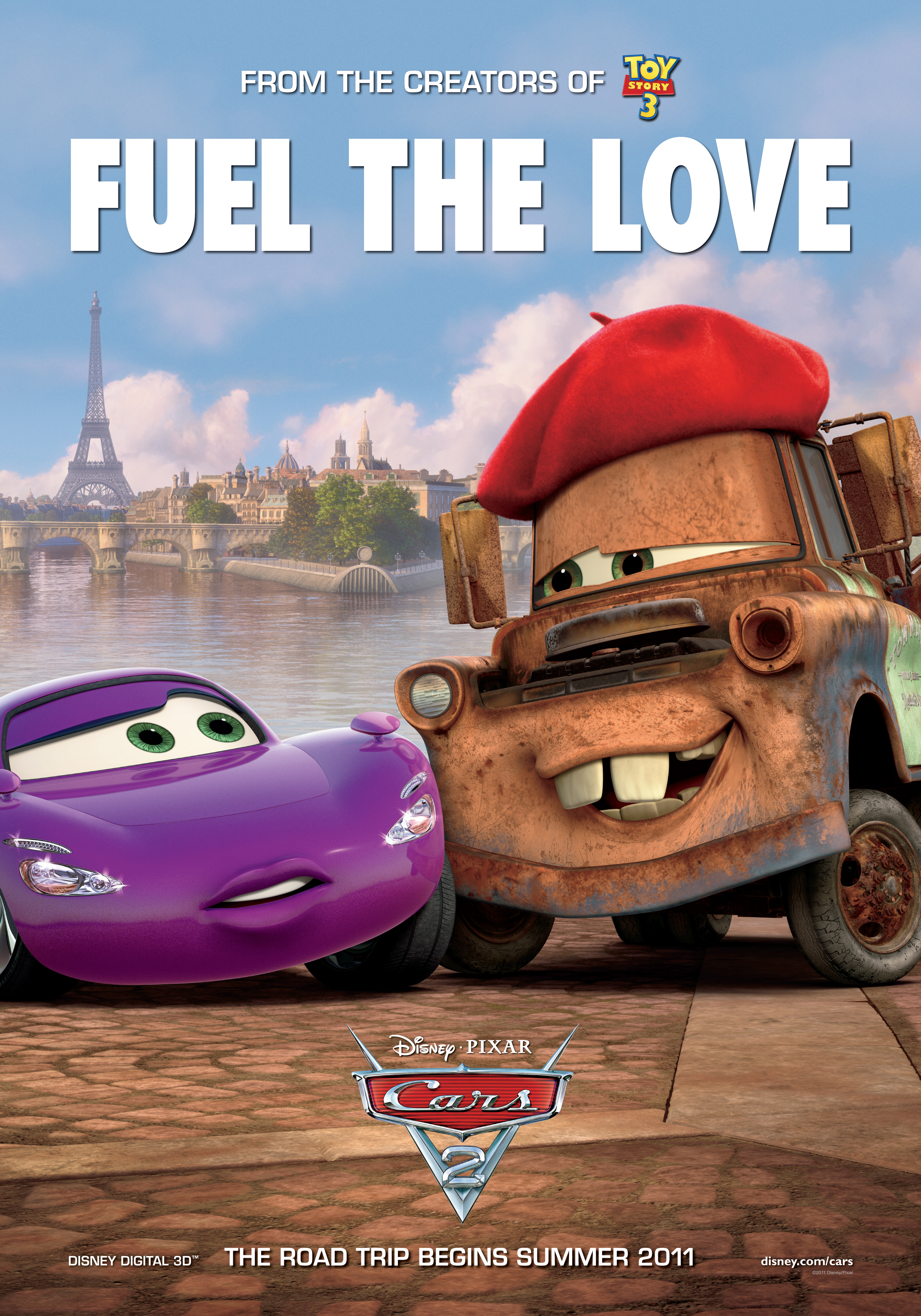 Cars 2 Poster: Fuel the Love | Team Marco Polo