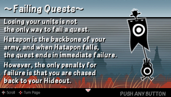 Failing quests