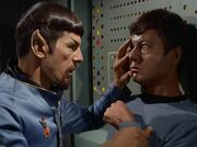 McCoy und Spock aus dem Spiegeluniversum