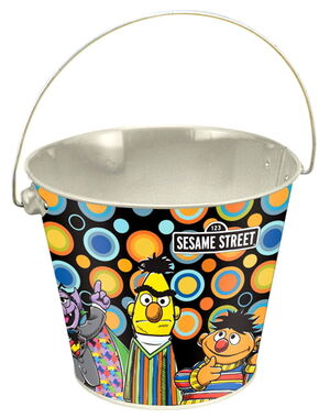 Sesame vandor tin bucket