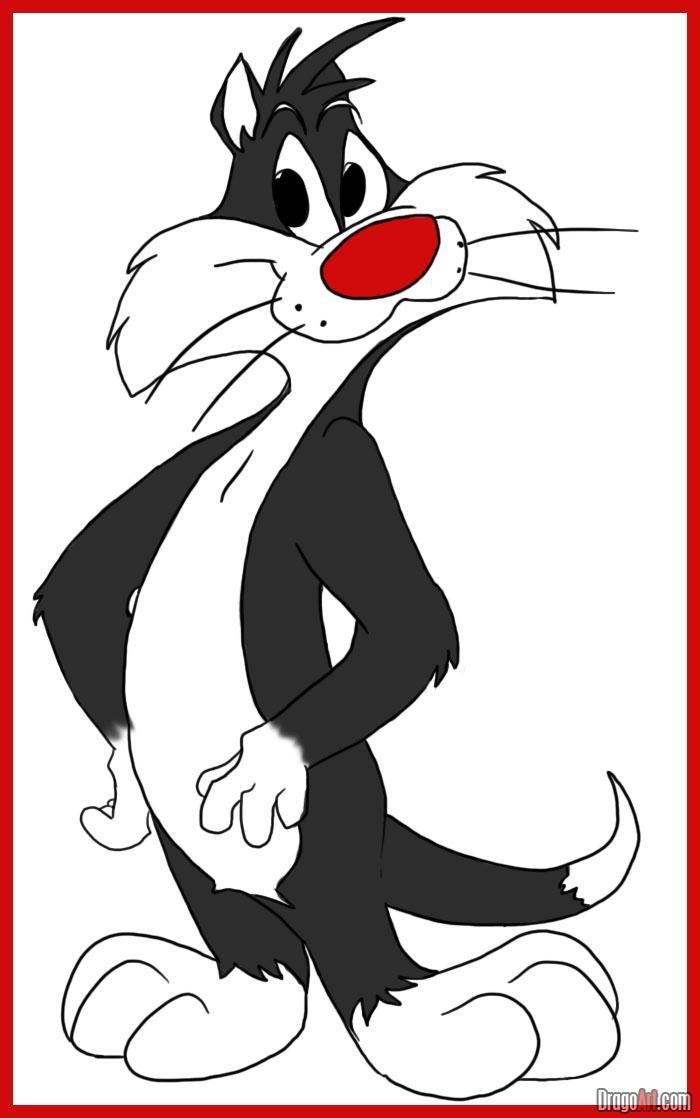 Ko je koji lik iz crtaća ? - Page 4 How-to-draw-sylvester-the-cat