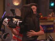 Freddie and Shelby Hug