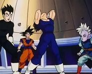 Vegeta falling Babidi&#39;s control