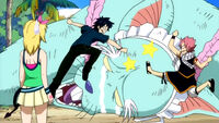 Gray and Natsu beats Angelica