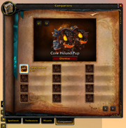 Spellbook &amp; Abilities-Companions tab