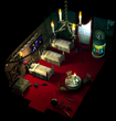 Gold saucer hotelroom