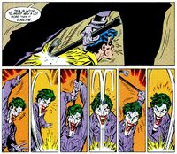 The Joker beats Jason Todd (aka Robin) to death with a crowbar