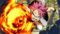 Natsu destroying Galuna Temple