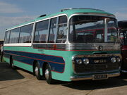 Bedford twin steer coach, GUP 743C
