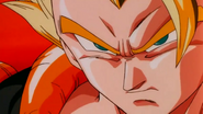 Gogeta's serious sexy face before performing Stardust Breaker on Janemba...
