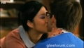 Tina and artie kiss scene dame