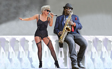 sad lady gaga performed awesome Lady Gaga and Clarence Clemmons