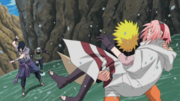 Naruto saves Sakura