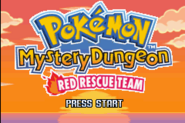 Pokmon Mystery Dungeon Red Rescue Team Title Screen