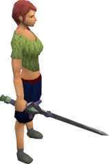 Fractite longsword equipped