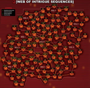 Web of Intrigue Legend