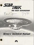 Star Trek The Next Generation Writers Technical Manual season 3
