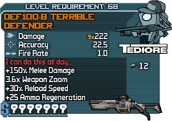 DEF100-B Terrible Defender