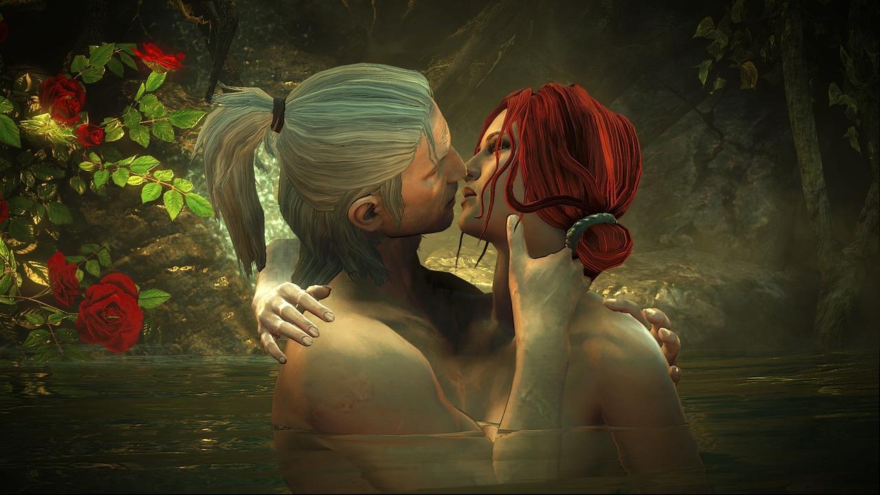 Geralt és Triss a The Witcher II egy jelenetében