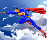 Superman Flight by v p j