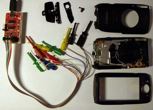 Canon ixus300 sd4000 uart buspirate