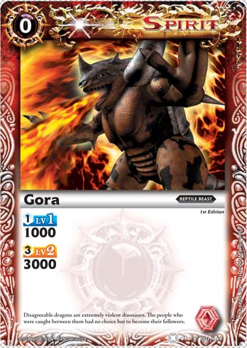 BS01 -battle spirits set 1 -spirits. Goradon2