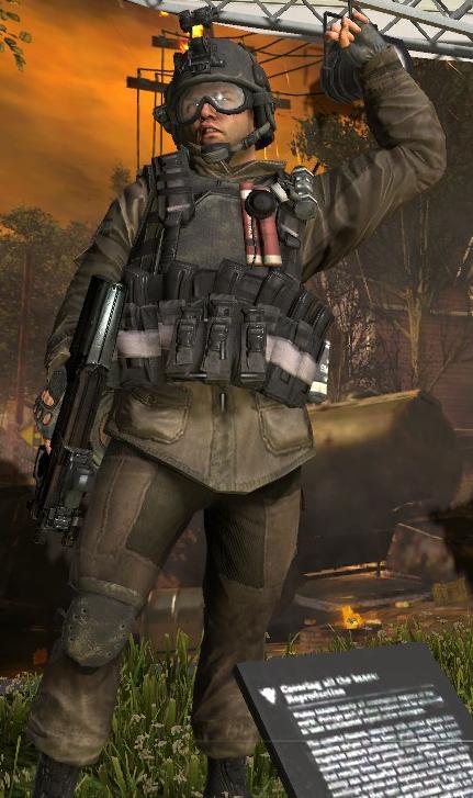 call of duty mw2 Spetsnaz soldier Minecraft Skin