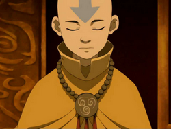 Aang at peace