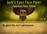 Jack's Eyes Face Paint