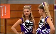 Paisley and Lexi cheerleading