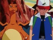 Ash and Charizard