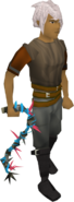 Abyssal vine whip (blue) equipped