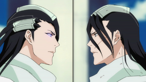Ep327 - Byakuya &amp; Reigai Byakuya face each other