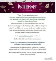 Pottermore e-mail