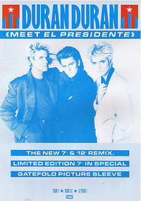 Meet el presidente single song poster duran duran