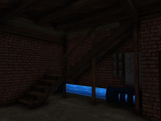 Basement - Under the Stairs - Tech - Ooze Pipe