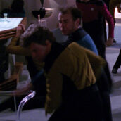 Stunt double Colm Meaney, Sarek