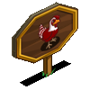 Candy Cane Chicken Mastery Sign-icon