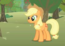 Applejack bucking apples S1E12.png