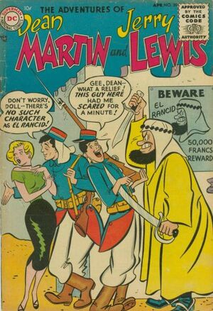 Cover for Adventures of Dean Martin and Jerry Lewis #20