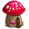 Red Toadstool House-icon