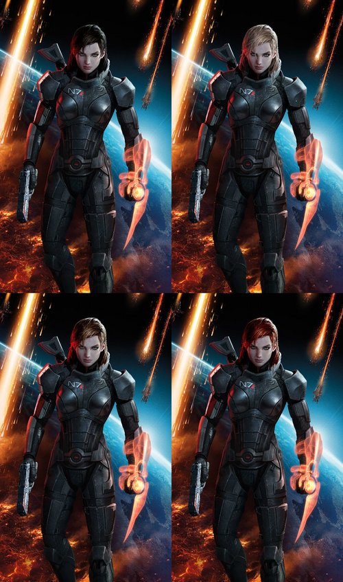 Mass Effect 3 Shepard designs 2