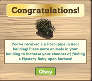Wildlife habitat porcupine message