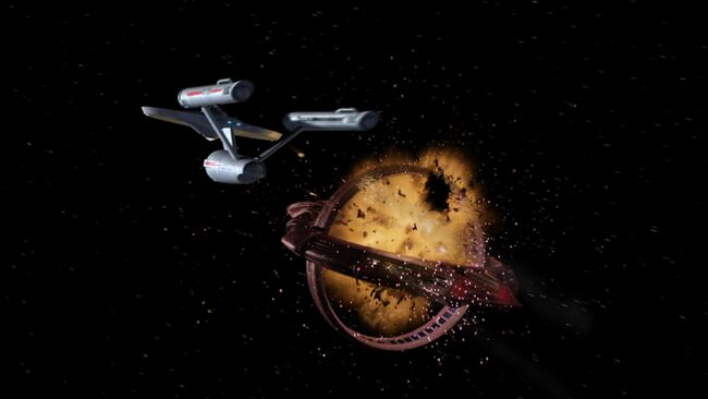 Vulcan cruiser destroyed by Defiant