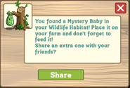 Wildlife habitat green mystery baby message