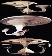USS Enterprise 2-foot model under test lighting