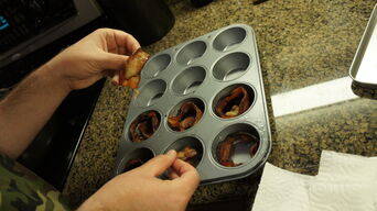 Bacon in muffin tins - 1