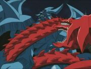 DM-131 Slifer attacks Obelisk