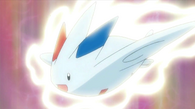 EP646 Togekiss usando ataque celestial