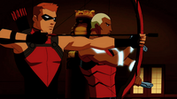 Red Arrow and Aqualad team up